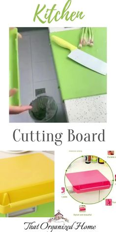 Safe, Durable & Easy to Clean, ultra-strong cutting surface is gentle on cutlery and knives and can be put in the dishwasher for quick, easy cleanup. Tough enough to withstand heavy chopping, slicing, dicing and sharp knives, our surface won't retain stains or odors for long-term use.#plasticchoppingboard #thatorganizedhome #kitchengadgets #kitchentools