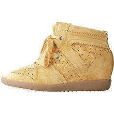 Isabel Marant Bobby Low-Top Sneaker ($640) ❤ liked on Polyvore