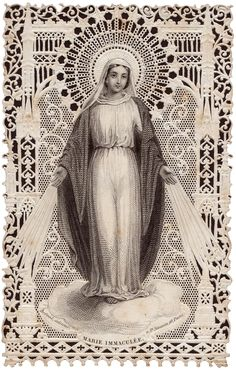 Holy Card Heaven: The Immaculate Conception: Solemnity, December 2013 (Patronal Feast of USA) Blessed Mother Mary, Blessed Virgin Mary, Queen Mother, Religious Icons, Religious Art, Madonna, Vintage Holy Cards, Religion Catolica, Catholic Religion