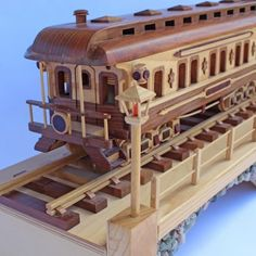 Woodworking Training Woodworking plan coach car on the Iron Horse Train