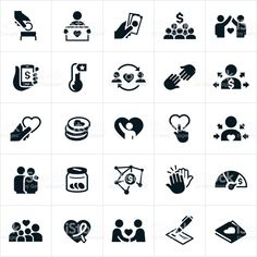 Fundraising and Charity Icons royalty-free fundraising and charity icons stock vector art & more images of icon