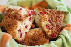 Strawberry Sour Cream scones with brown sugar crumble = Now i want to have a brunch party...