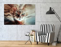 Discover «Surreal Cat», Numbered Edition Canvas Print by Nannie van der Wal - From 45€ - Curioos