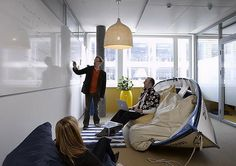 Office Room, A Unique Informal Meeting Room With Real Boat And Rattan Pendant Lamp With White And Blue Fur Rug: How to design a conference r. Google Office, Office Interior Design, Office Interiors, Corporate Interiors, Workspace Design, Office Designs, Zurich, Google Headquarters, Sala Vip