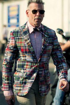 #nick #wooster #nickwooster #nyfw #men #mens #fashion #style #tattoo #tatts #blazer #print #sunnies