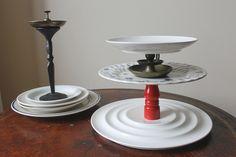 diy tiered plates