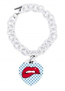 Ops! Objects náramek Comix bílý - 615 Kč Jewelry Art, Jewellery, Cartoon Styles, Pop Art, Swarovski, Objects, Jewels, Personalized Items, Pendant