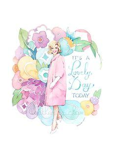 Doris Day Art - Watercolor Painting Print