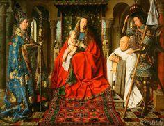 Jan Van Eyck - Madonna of the Canon Joris van der Paele