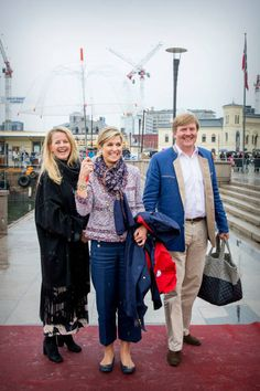 King WillemAlexander Queen Maxima and Princess Mabel of The Netherlands attend a lunch on the Royal yatch Norge on the ocassion of the celebration of...