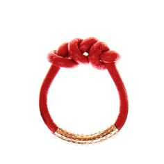 Knotted Leather Ring Red design inspiration on Fab.