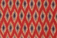 Waverly Ikat Diamond Printed Cotton Drapery Fabric in Red $8.95 per yard