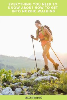 Nordic walking is the new walking fitness trend of 2019 Walking Program, Walking Challenge, Walking Poles, Benefits Of Walking, Nordic Walking, Walking Exercise, Nordic Style, Health And Wellbeing, Trail Running