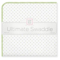 Swaddle Designs Ultimate Receiving Blanket  - Kiwi Polka Dots *** You can get additional details at the image link.