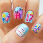 Most recent nail art photos supplied by members of the NAILS Magazine Nail Art Gallery. Birthday Nail Art, Birthday Nail Designs, Birthday Fun, Little Girl Nails, Girls Nails, Girls Nail Designs, Cute Nail Designs, Cupcake Nail Art, Purple Glitter Nails