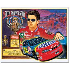 "Jeff Gordon ""Simply The Best!"" Sam Bass Fine Art Poster - $20.00"