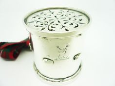 Silver Pepper Pot Sterling DRUM Antique English by DartSilverLtd, £475.00