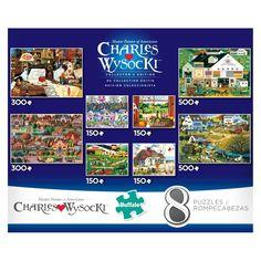 8pk Charles Wysocki Game, Jigsaw Puzzles