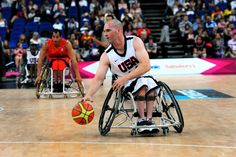 MEDAL QUEST athlete and co-captain Paul Schulte at the London Paralympic Games