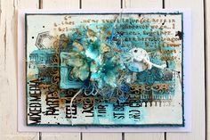 Embossing- Mixedmedia Card-with processing video