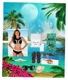 """""""Beach plz 2"""" by siesie123 on Polyvore featuring South Beach, BCBGeneration, Old Navy, Ballard Designs, Pier 1 Imports and Chanel"""