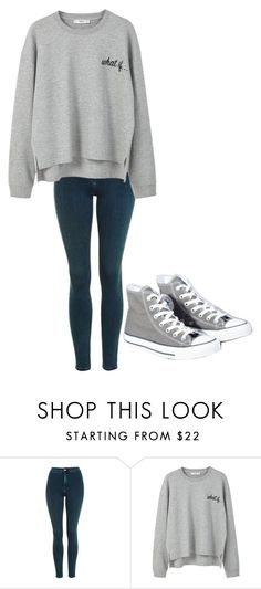 """Untitled #187"" by cruciangyul on Polyvore featuring Topshop, MANGO and Converse"