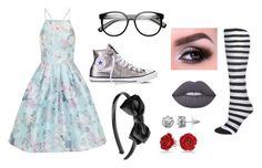 """Paint White Roses Red"" by hai-i-love-oreos on Polyvore featuring Chi Chi, Converse, claire's, Lime Crime, Juicy Couture and Bling Jewelry"