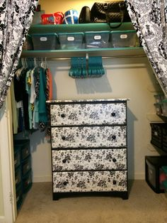 Sophie's closet redo. Completed!