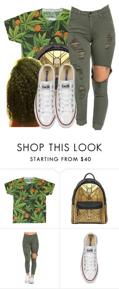 """""""Untitled #743"""" by chynaloggins ❤ liked on Polyvore featuring MCM and Converse"""