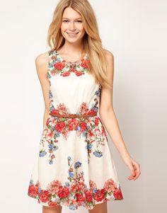 Oasis Placement Floral Cotton Dress