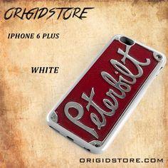Plate Truck Peterbilt Black White Snap On 3D For Iphone 6 Plus Case