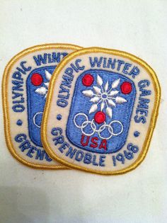 Olympic Winter Games 1968 Grenoble Patches by jecavintage on Etsy, $15.00