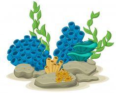 Fish Bathroom, Sea Plants, Underwater Art, Baby Shark, Art Reference, Art Drawings, Origami, Concept Art, Clip Art