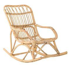 Rocking chair enfant / Rotin Rotin naturel - Bloomingville