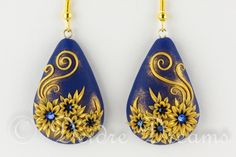 A Starry Night Flower Earrings by DeidreDreams on DeviantArt