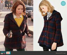 Kimmy's plaid coat on Unbreakable Kimmy Schmidt.  Outfit Details: https://wornontv.net/72045/ #UnbreakableKimmySchmidt