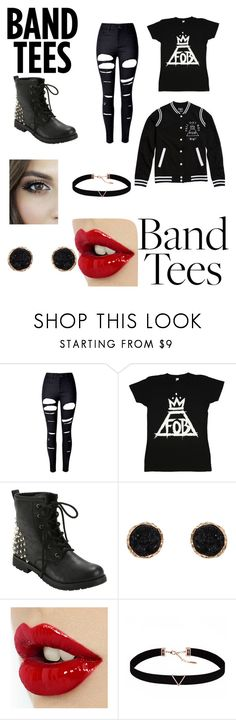 """""""Fall Out Boy"""" by rameen-rocks ❤ liked on Polyvore featuring Hot Topic, WithChic, Humble Chic and Astrid & Miyu"""