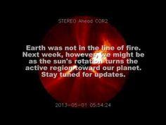 SOLAR ACTIVITY UPDATE: Farside Blast (May 1st, 2013).