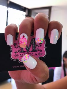 22 Ideas Fails Design Ideas Pastel For 2019 Birthday Nail Designs, Birthday Nails, Hot Nails, Pink Nails, Cupcake Nail Art, Nails For Kids, Best Acrylic Nails, Nails Inspiration, Beauty Nails