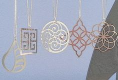 Stainless Steel pendants by GioGio Design - www.giogiodesign.com