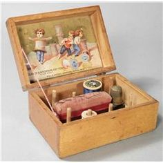 Antique sewing box.#Repin By:Pinterest++ for iPad#