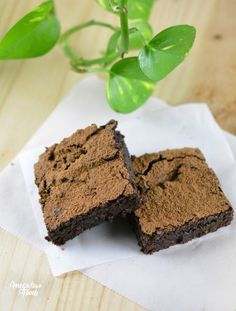 Brownies ultra-fondants – Vegan, sans gluten & IG bas. – Megalow Food