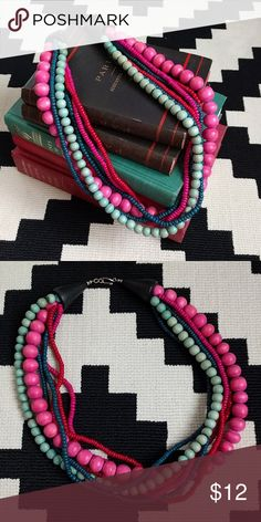 Colorful Wood Bead Necklace Love this necklace! Adds personality to any outfit! Jewelry Necklaces
