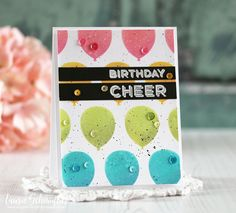 Birthday Cheer Card by Laurie Schmidlin for Papertrey ink (January 2018)