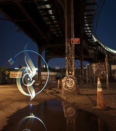 light painted calligraphy by julien breton