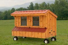 chicken coop designs: chicken coops on wheels
