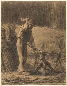 Jean-François Millet | Woodcutter Trimming Faggots | The Met