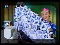 Лоскутное шитья. Круг - шаблон для сборки лоскутных изделий. Шьем одеяло, сумку, подушку - YouTube