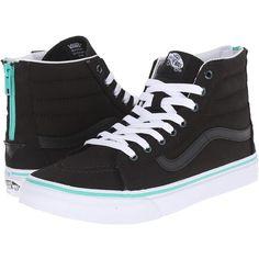 97acb2ebd5 Vans SK8-Hi Slim Zip ((Iridescent Eyelets) Black) Skate Shoes (