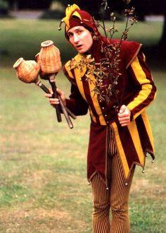 Medieval Juggling Jester by Albert Alchemy Jester Costume, Jester Hat, Court Jester, Medieval Jester, Medieval Fair, Medieval Fantasy, Renaissance Era, Renaissance Costume, Medieval Costume